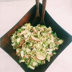 Brussel Sprouts Salad with Apples, Dates and Walnuts