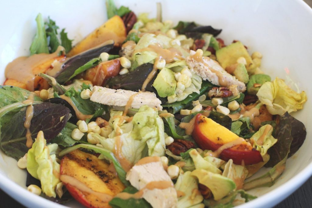 Grilled Summer Salad with peaches