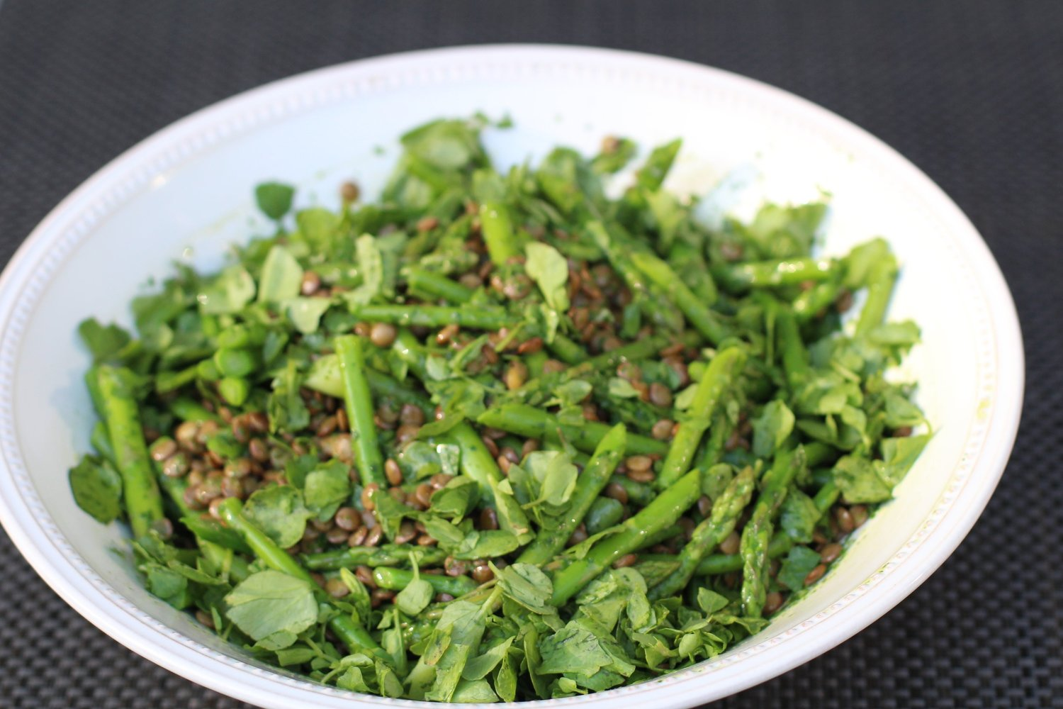 Green Lentils Asparagus and Watercress Recipe