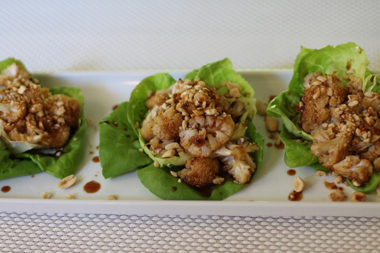 Asian Cauliflower Lettuce Cups.