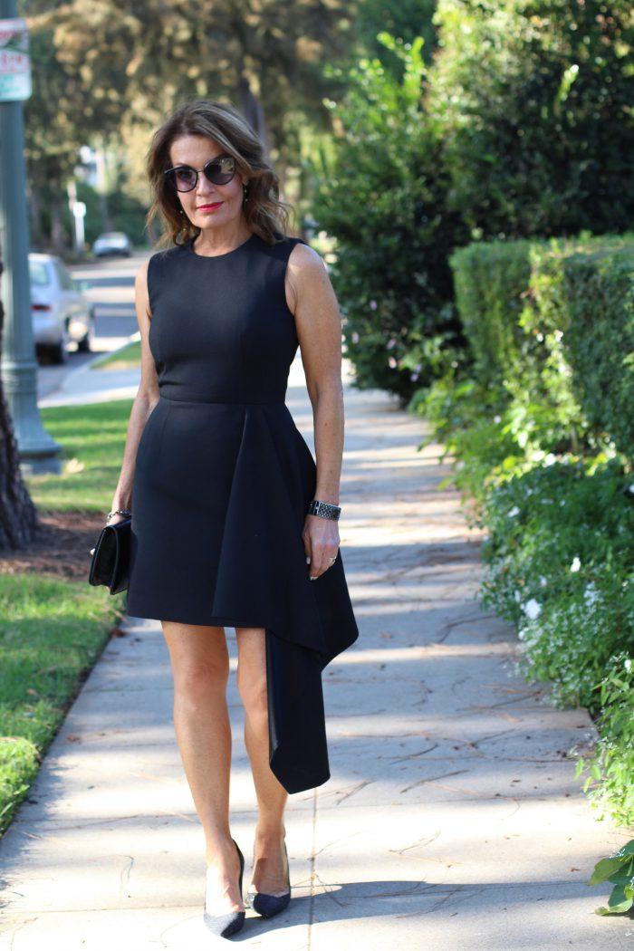 Black Alexander McQueen dress