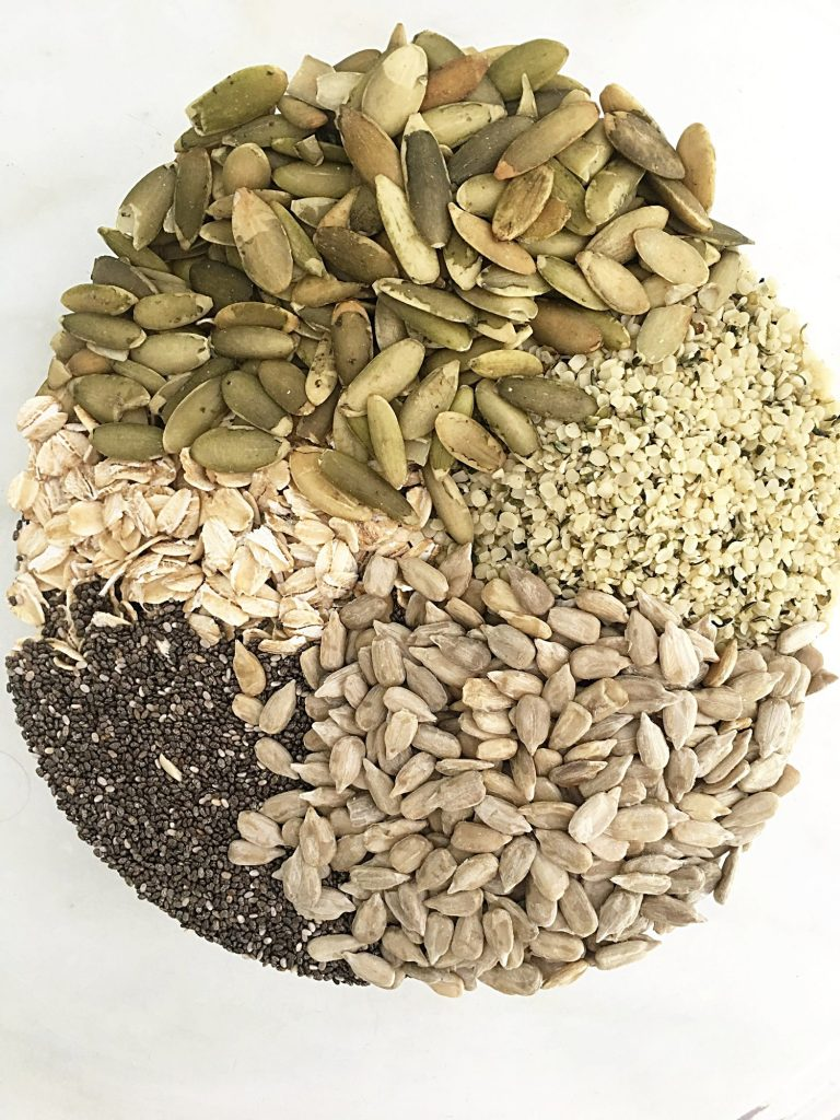 Seed mix for date bars