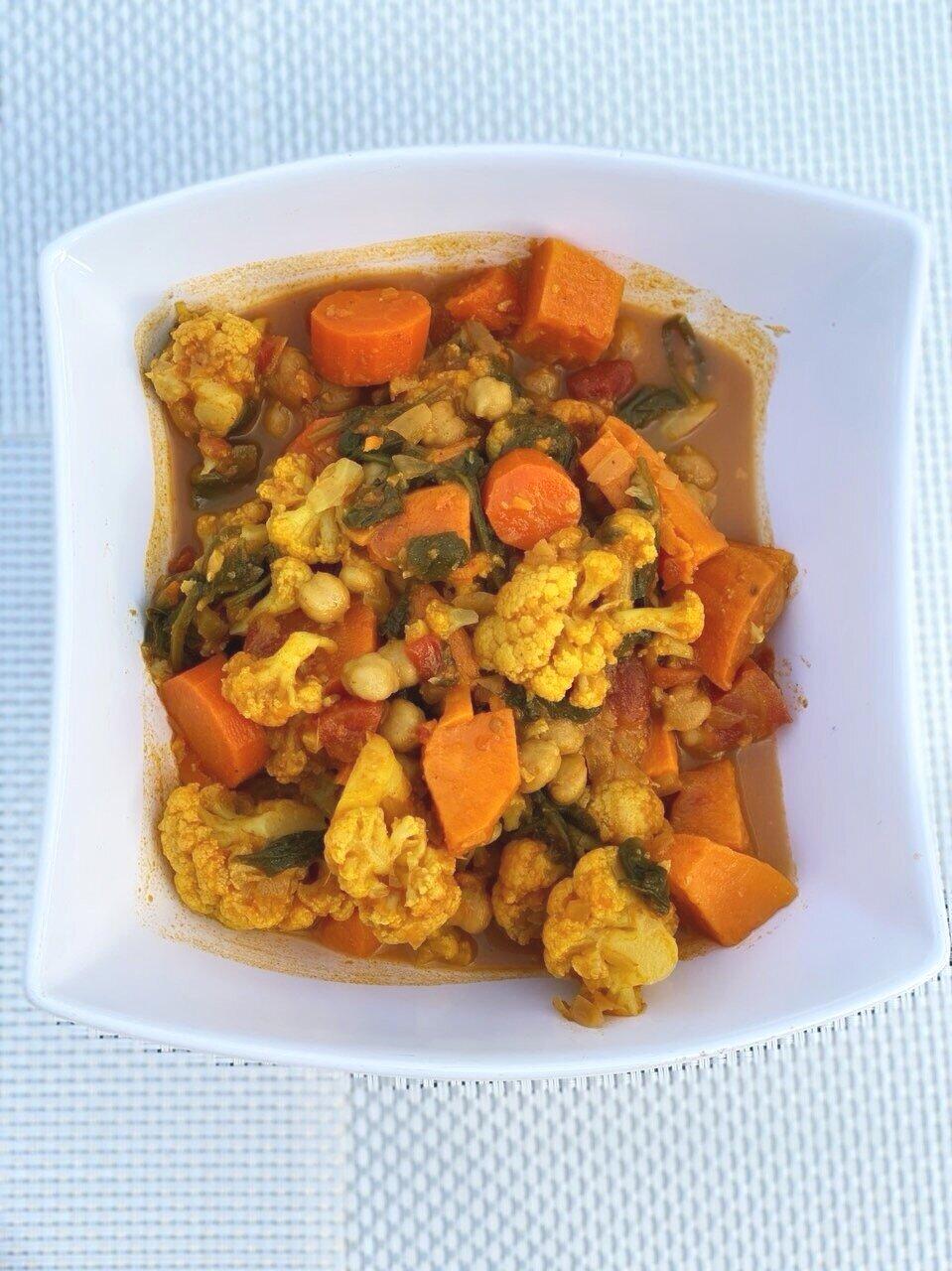 Curried Vegetable Stew.