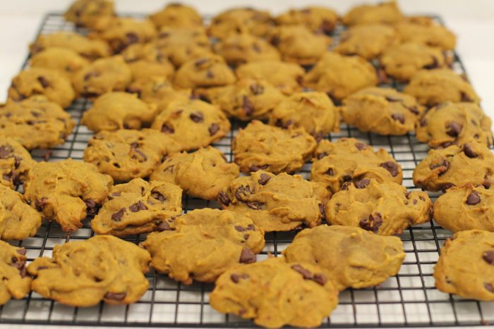 Soft Pumpkin Chocolate Chip Cookies.