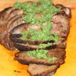 Grilled London Broil with Chimichurri