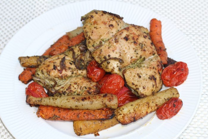 Pesto Chicken with Vegetables