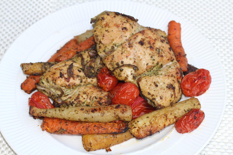 Pesto Chicken with Vegetables