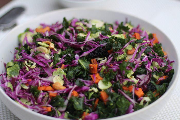 Rainbow Crunch Paleo Salad.
