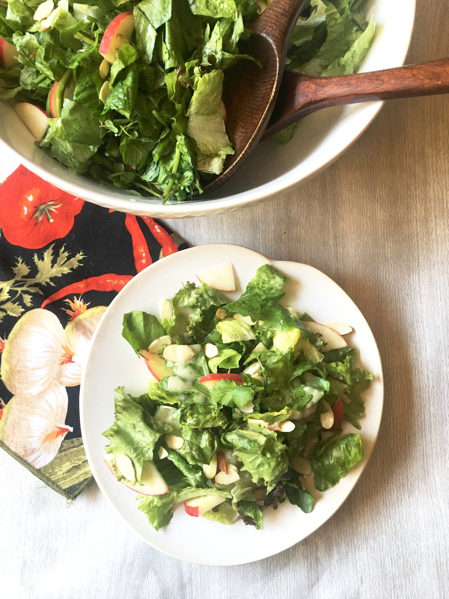 Mixed Greens with Apple, and Cider Vinaigrette
