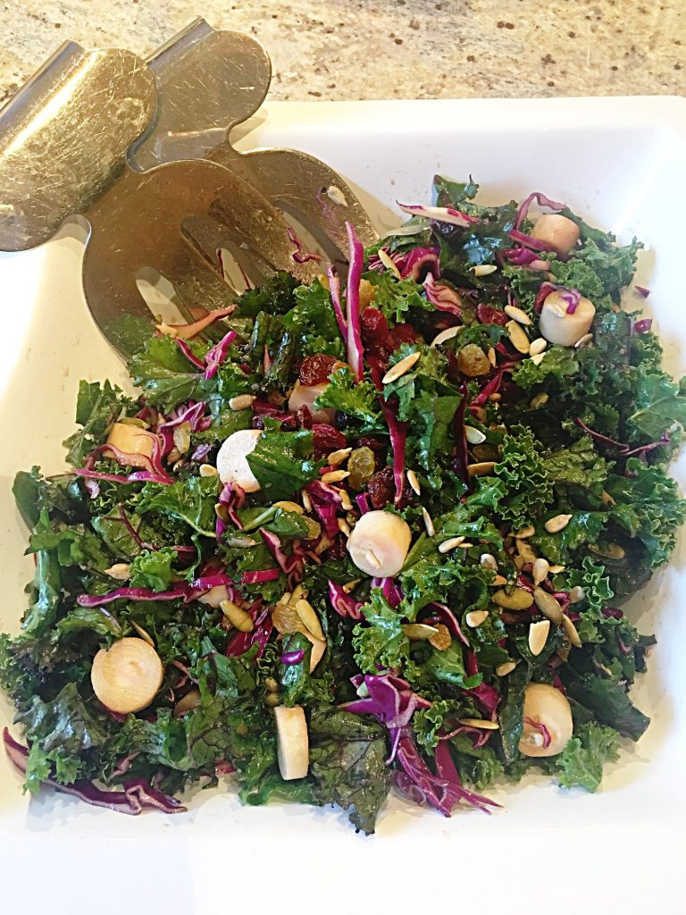 Red Cabbage and Kale Salad Recipe