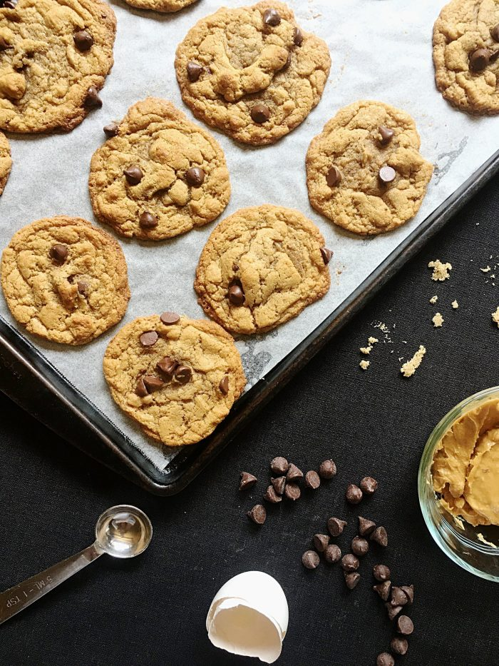 Flourless Peanut Butter Chocolate Chip Cookies Recipe