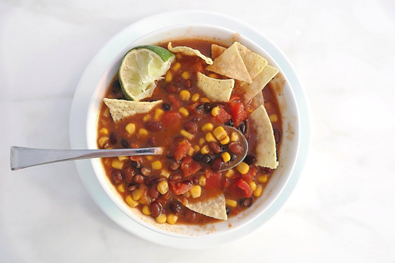 Vegetarian Tortilla Soup Recipe.