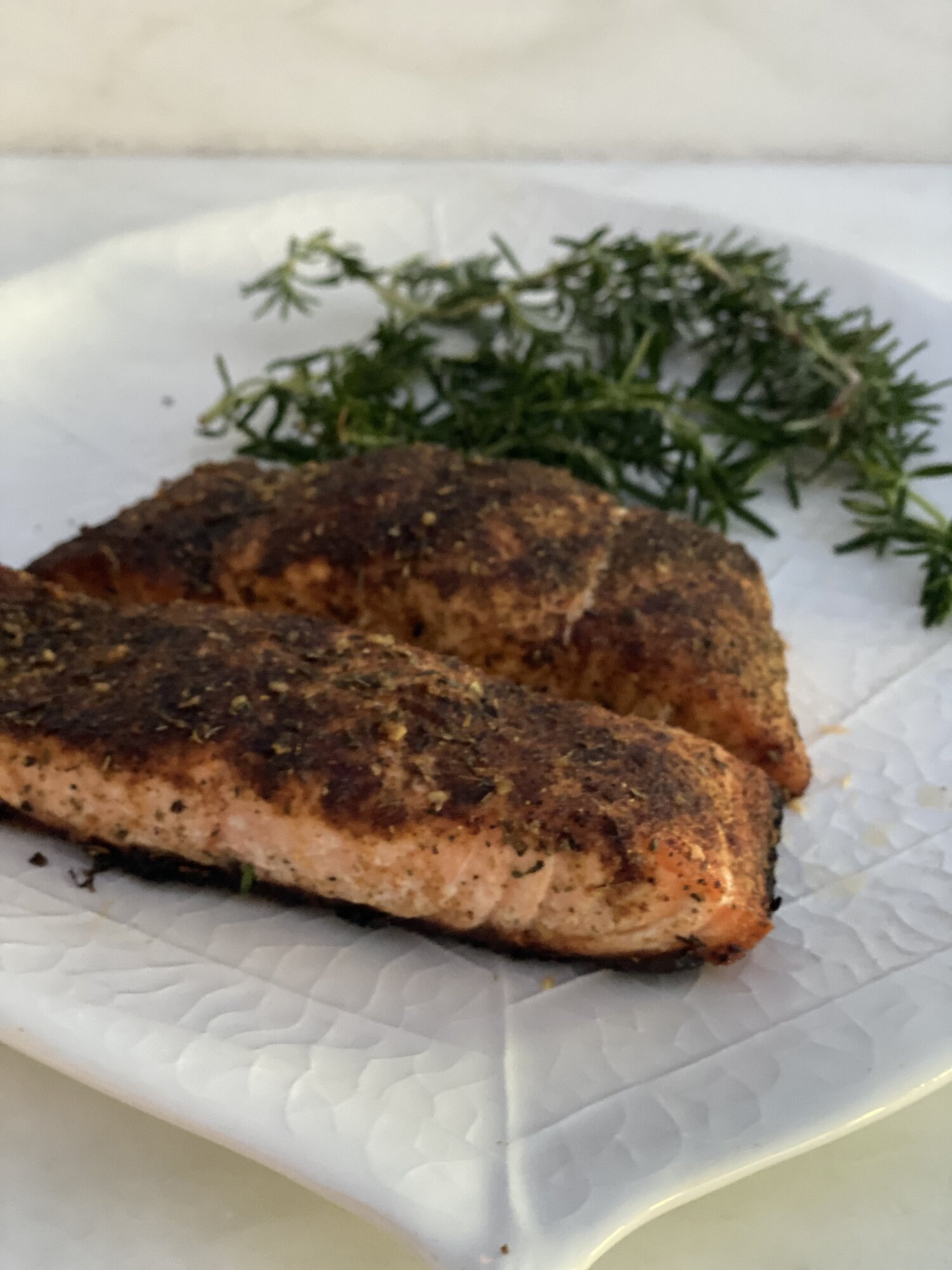 Spice Rubbed Grilled Salmon.