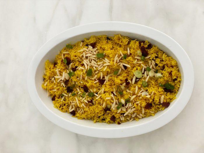 Indian Spiced Basmati Rice Pilaf.