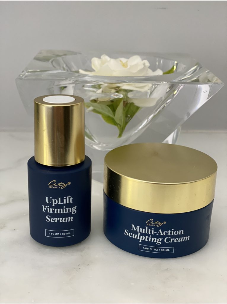 City Beauty UpLift Firming Serum and Multi-Action Sculpting Cream.