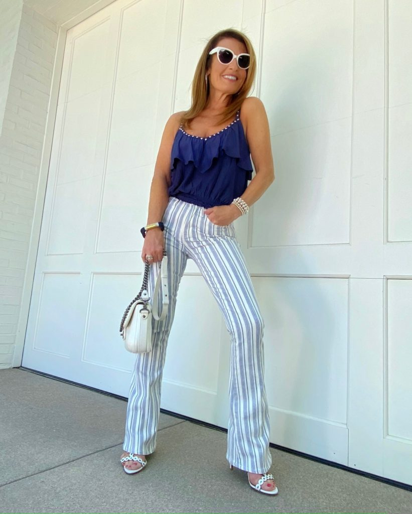 Frame Striped Jeans
