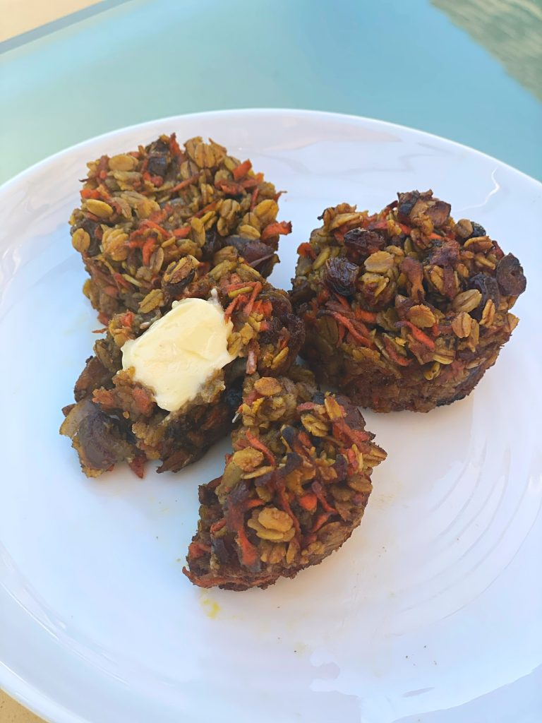 Healthy Carrot Date Muffins!