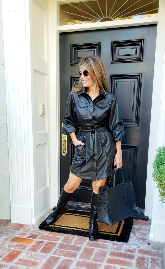 The Little Black Pleather Dress